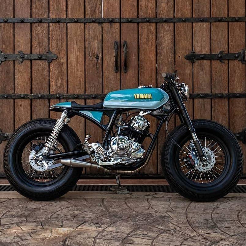 Yamaha Sx225 Dartok Amazing Vintage Style Cafe Racer Motorcycle Yamaha Sx225 Bike Yamaha Sx225 Caferace Cafe Racer Honda Cafe Racer Bikes Cafe Racer Build