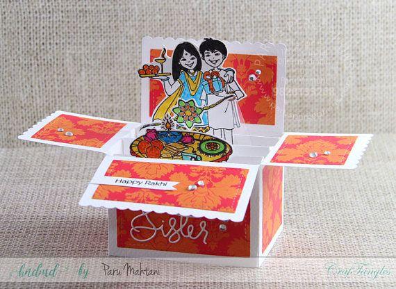 Rakhi box card,rakshabandhan,brothersandsisters,indianfestival,indiandesign,indianmotif,