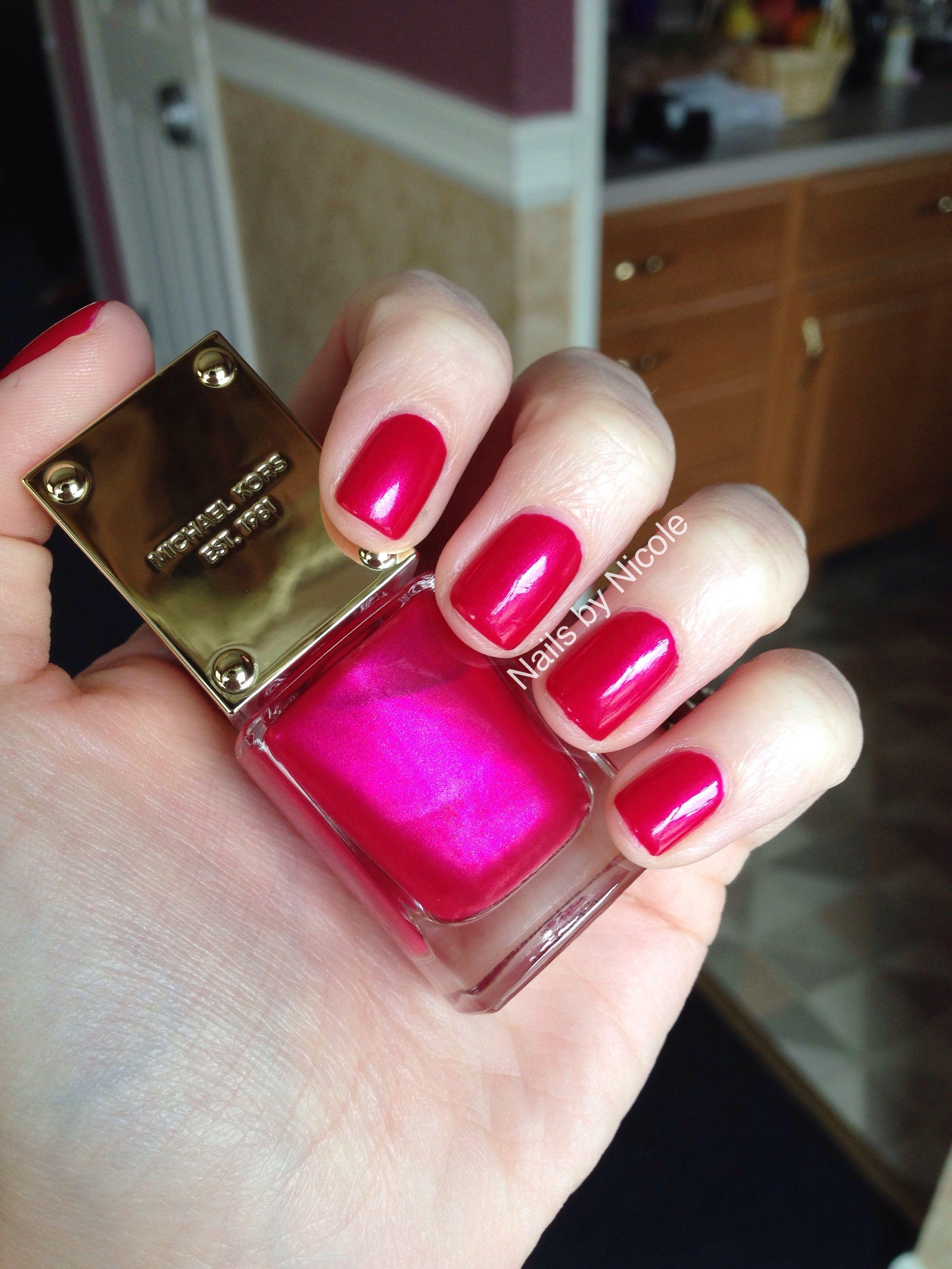 Michael Kors Scandal Nail Polish fuschia jewel tone nails | uñas ...