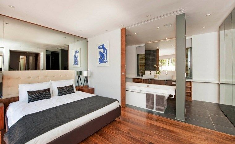 Dormitorios Con Vestidor Y Bano 50 Opciones De Diseno Dormitorios Dormitorio De Diseno Moderno Pisos Para Dormitorios