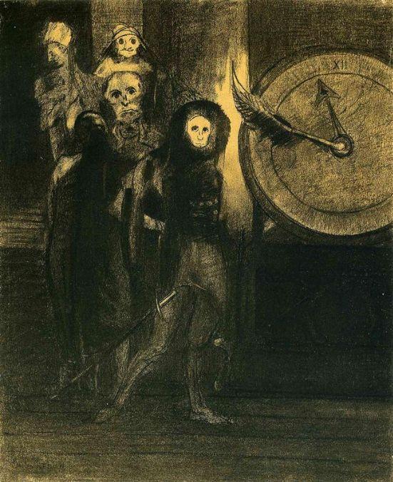 Odilon Redon, Le Masque de la Mort Rouge, 1883