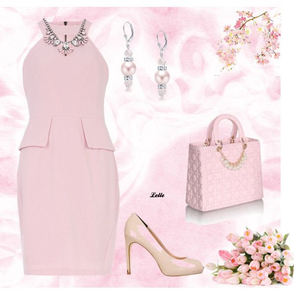 """Pink"" by lellelelle on Polyvore"