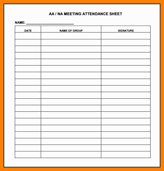 Attendance Sheet Template The Meeting Should Start Out With A Review Of The Former Shift For Each It Attendance Sheet Attendance Sheet Template Sign In Sheet