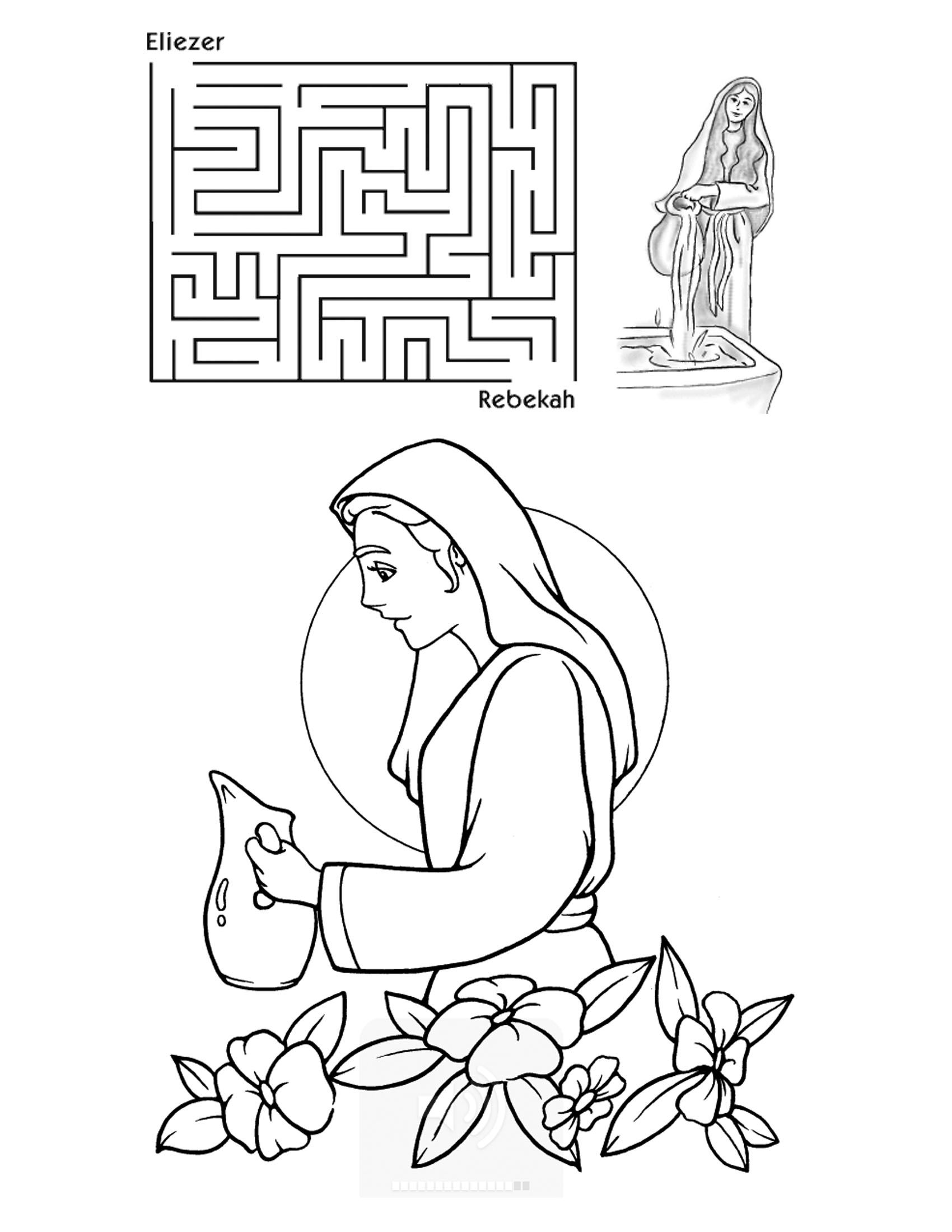 A Wife For Isaac Coloring Page