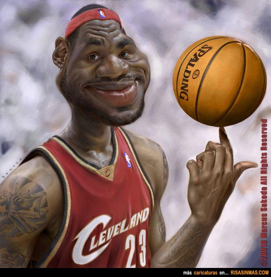Di did lebron james become famous - Caricatura De Lebron James