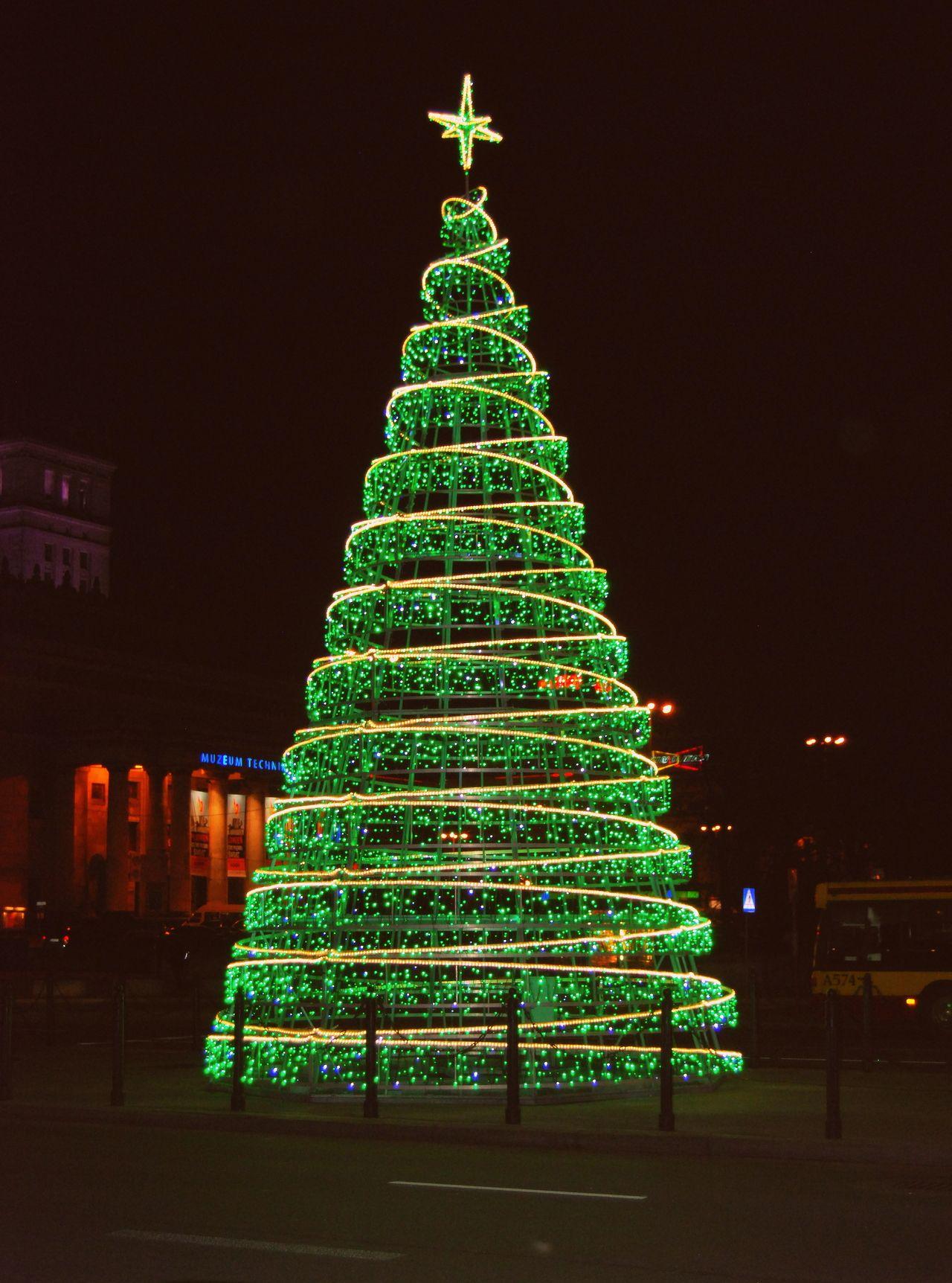 Christmas Tree Warsaw, Poland