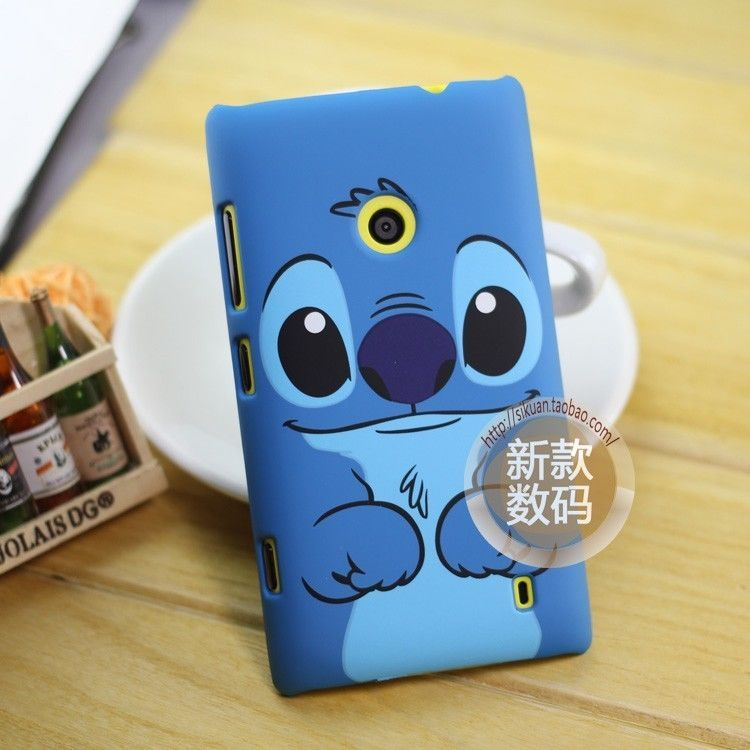 nokia lumia 520 blue. for nokia lumia 520 cute cover blue dog cartoon lilo stitch hard back case