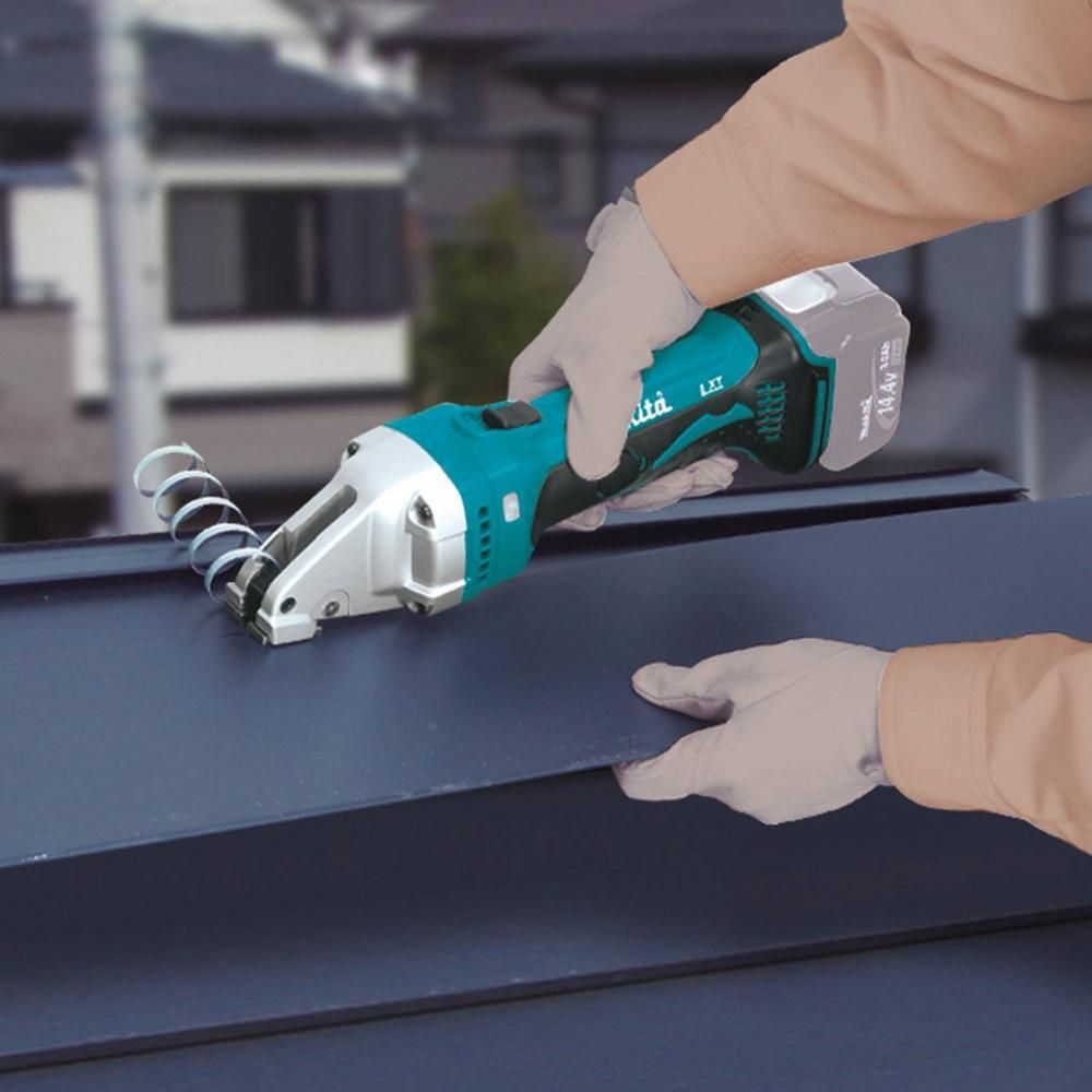 Makita 18 Volt Lxt Lithium Ion Cordless 16 Gauge Compact Compact Straight Shear Tool Only Xsj02z The Home Depot Makita Stainless Steel Sheet Metal Wrench Storage