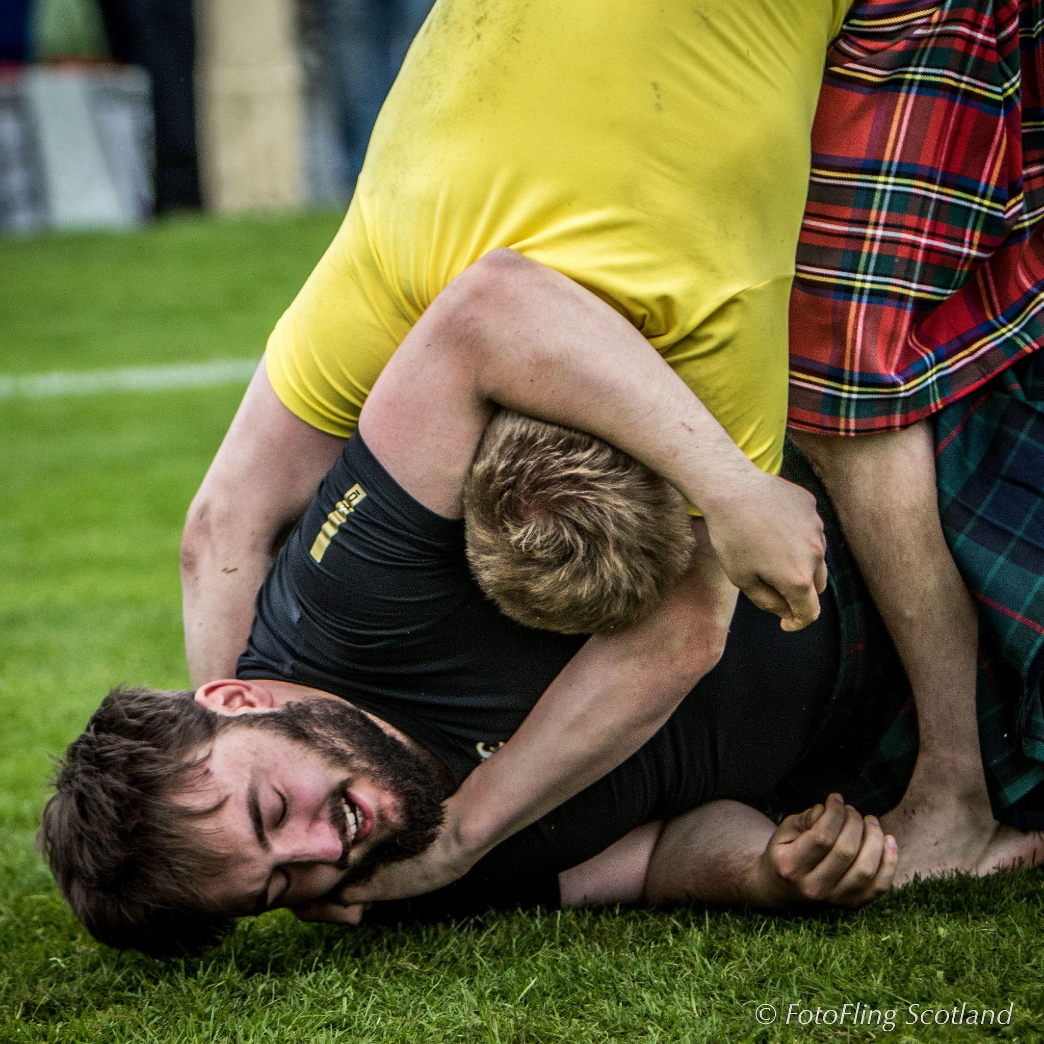 Scottish Backhold Wrestlers Matthew Southwell Ryan Ferrey Highland Games Sports Wrestling