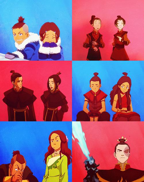 Katara & Sokka / Azula & Zuko - Siblings!