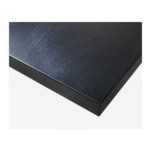 linnmon tischplatte schwarzbraun. Black Bedroom Furniture Sets. Home Design Ideas