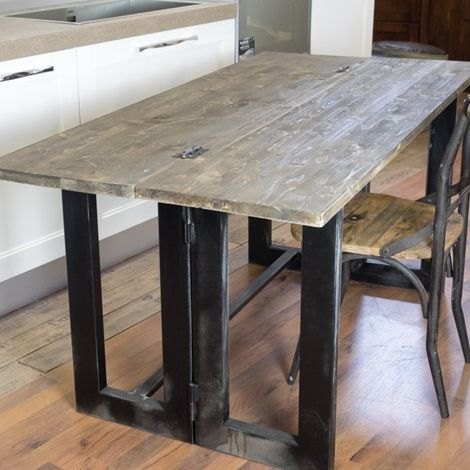 Tavolo Consolle A Ribalta.Tavolo Consolle Vintage Etno Ribalta Cm 170 Industrial Style In