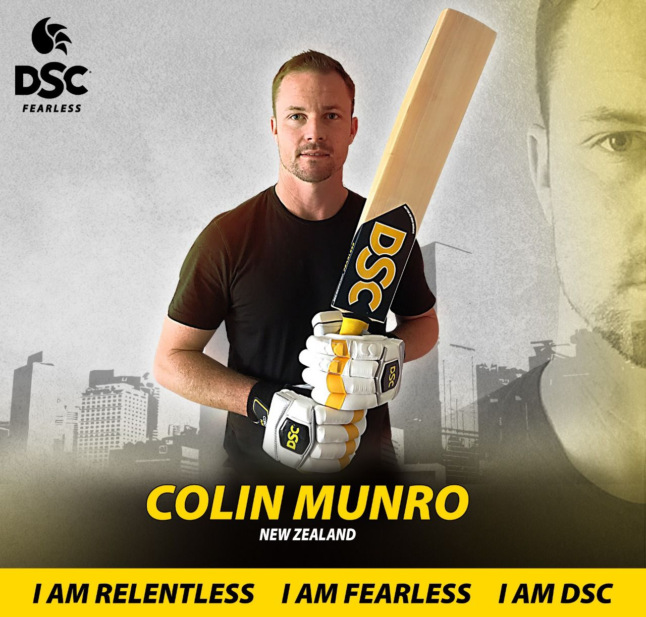 "DSC is pleased 😁 to ""Colin Munro"" an Opener"