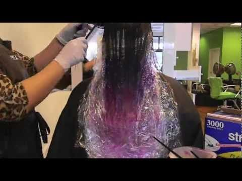Hot Pink Hair Chalk Ombre Tutorial