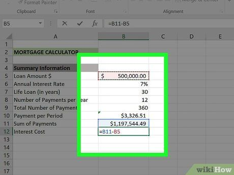 How To Create A Mortgage Calculator With Microsoft Excel Mortgage Amortization Calculator Mortgage Amortization Online Mortgage