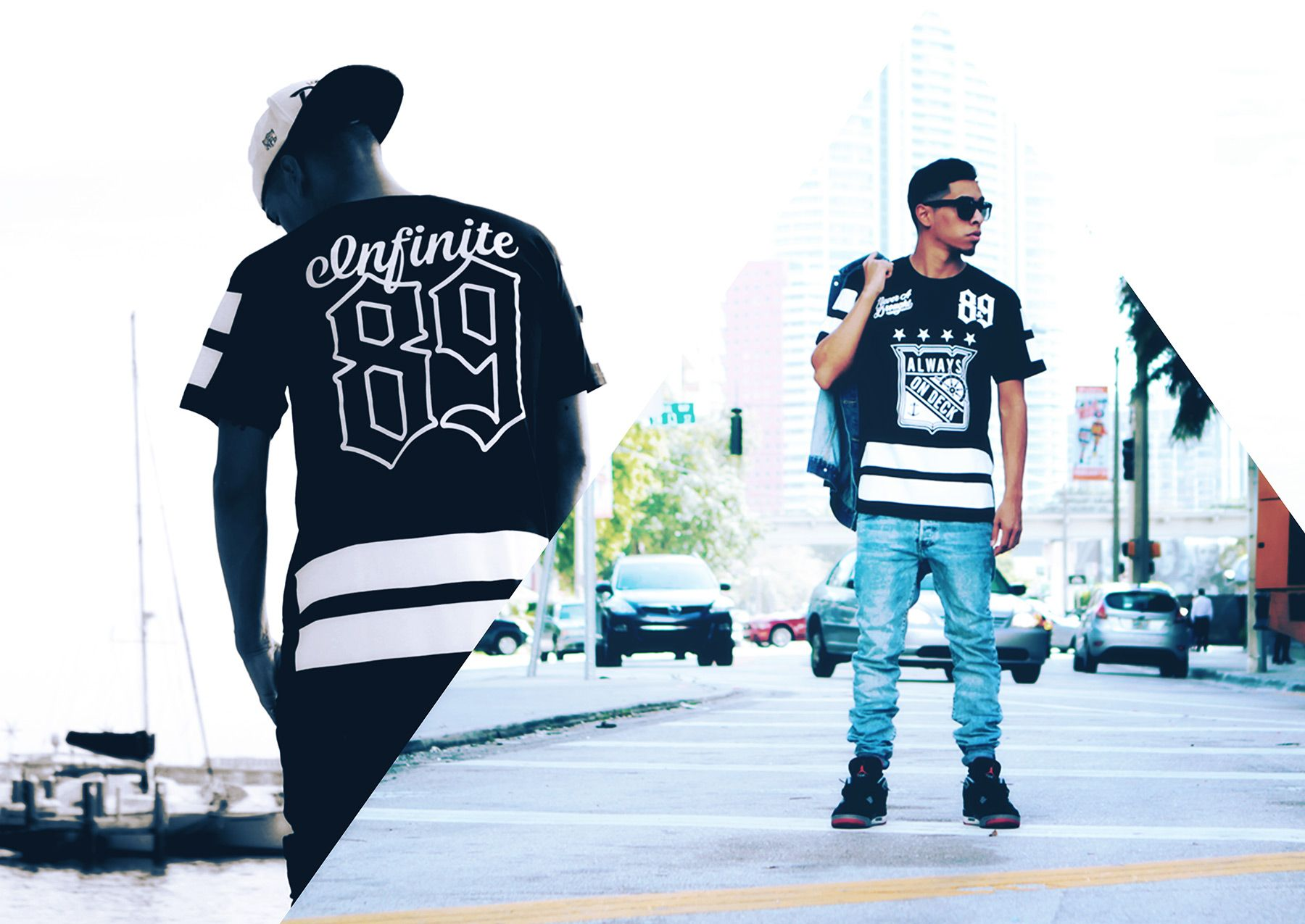 On Deck Hockey Jersey S S In Black By 8 9 8and9life 8 9clothing Streetwear Alwaysondeck Eightandnine Mens Streetwear Street Wear Urban Streetwear Fashion