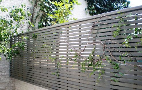 Contemporary Slatted Panels Fence Es Uk The Garden Trellis Company