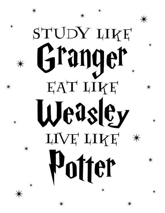 Study, Eat, Live Quote Digital Print