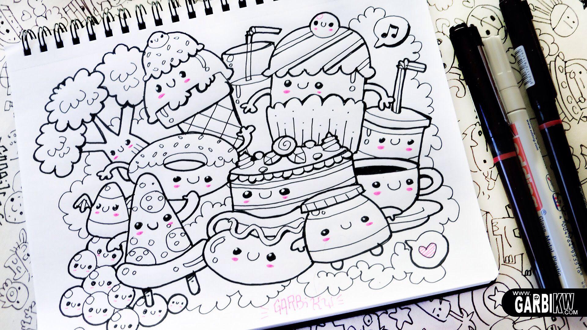 Doodle Food Om Te Tekenen Tekenen Kawaii Tekeningen Doodles