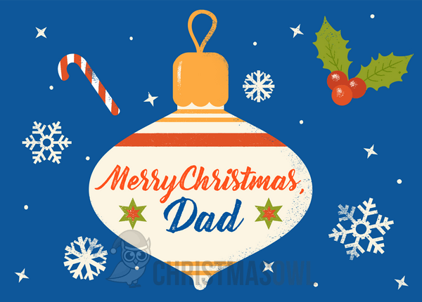 Free Printable Christmas Card For Dad Download It At Https Christmasowl Com Downloa Free Printable Christmas Cards Free Christmas Printables Christmas Cards