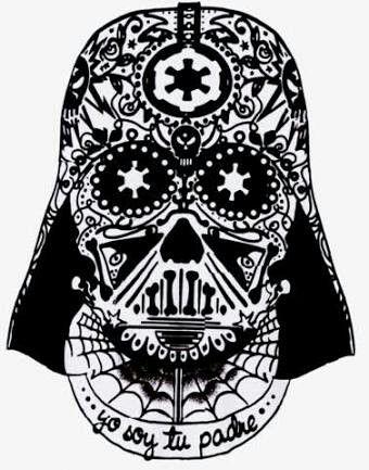 36+ Darth vader sugar skull coloring page HD
