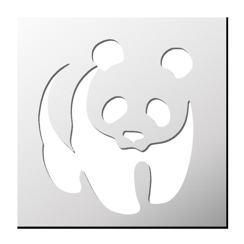 Pochoir Panda Pochoir Pochoir Pour Animaux Et Pochoir Enfant