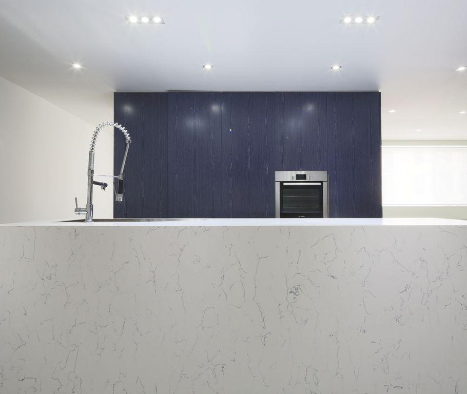 Our Chosen Quantum Quartz Stone Bench Top In Bianco Venato