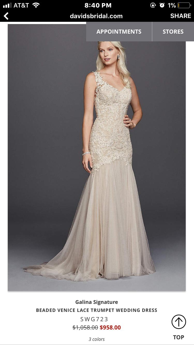 Galina signature wedding dress  Pin by Brianna Stam on Wedding Dress  Pinterest  Wedding dress and