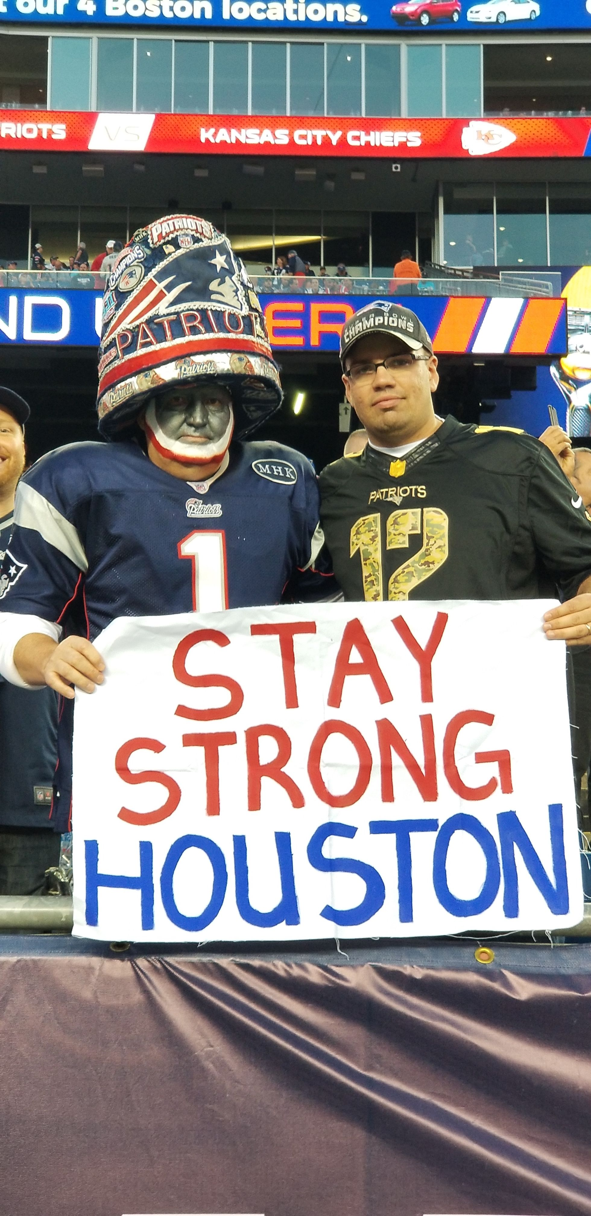 Across The Nfl Our Hearts And Minds Were With Houston In Week 1 As They Recovered From Hurricane Harvey Nfl Fantasy New England Patriots Kansas City Chiefs