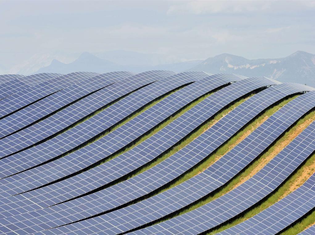 Huge solar array in France