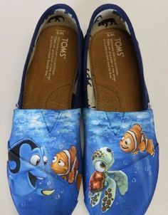 ddb700849e1a3 TomsShoes Custom hand painted Toms shoes Disney and Pixars Finding ...