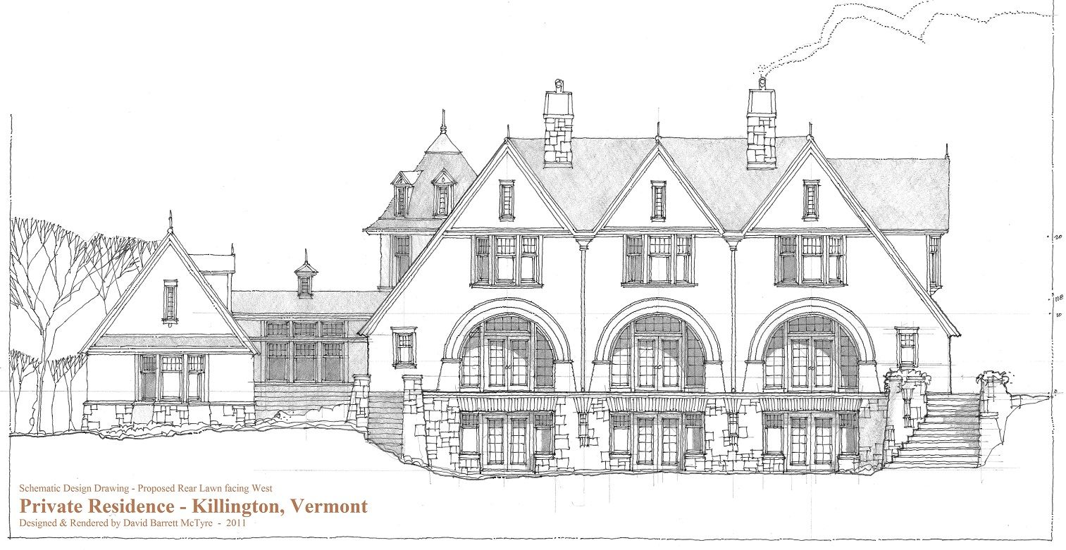 Conceptual Design Drawing Of Waterfront Residence I
