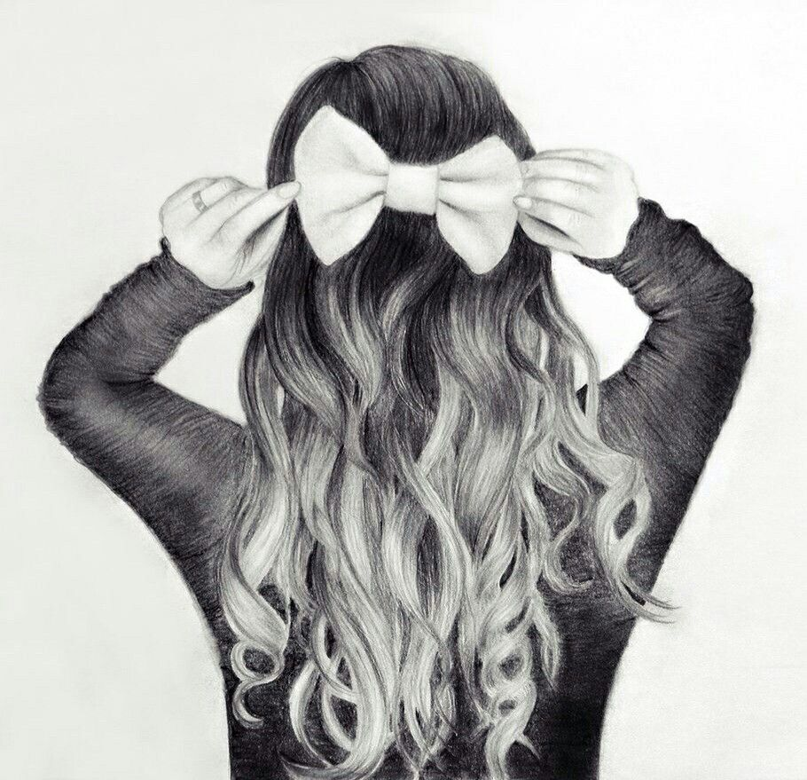 Back Hair Nice Girl Hair Drawing How To Draw Hair Girly Drawings