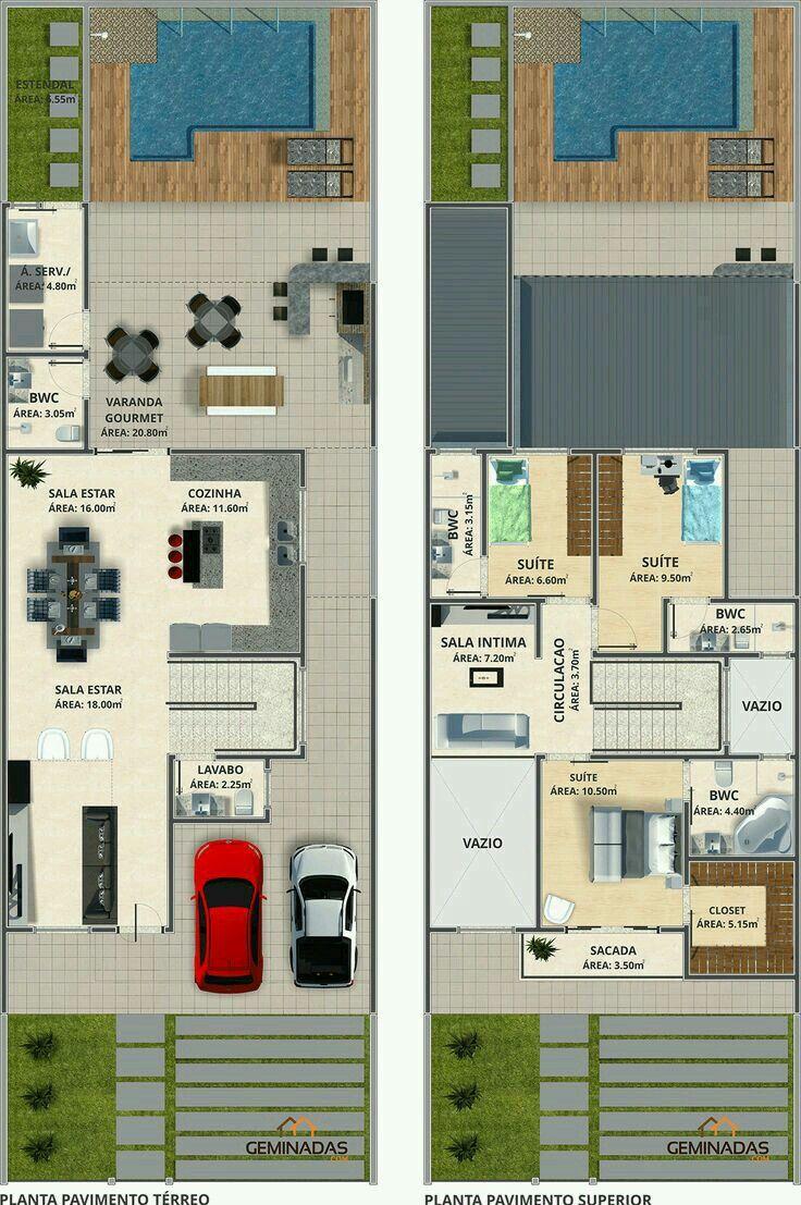 Pin de bethoven en arquitectura en 2019 casas de una for Diseno de apartamento en segunda planta