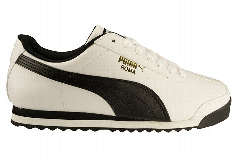 all white puma roma shoes