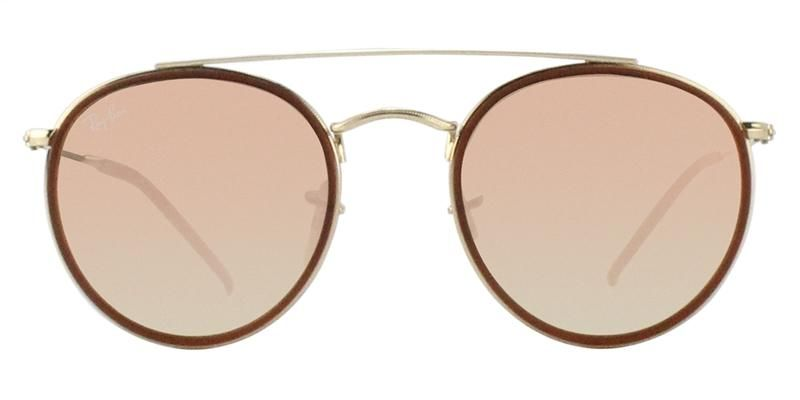 86535d2256 ... low cost ray ban rb3647n gold brown pink lens mirror sunglasses  shadesdaddy f19d8 b30b1