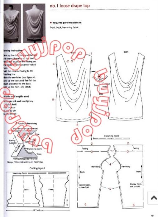 017d74fa1234f22a05284b999f5c7218.jpg (507×697)   Одежда крой схемы ...