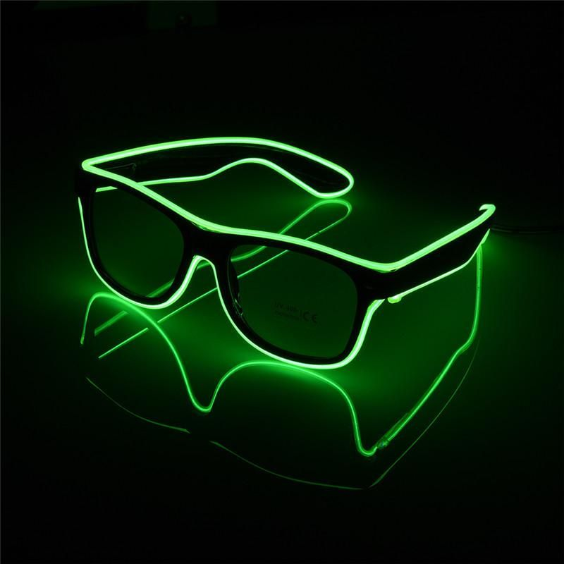 Led Lighting Led Strips 2019 Hot Plastic Sound Control El Wire Led Light Up Shutter Glasses Costume Party Sunglasses For Shows Club