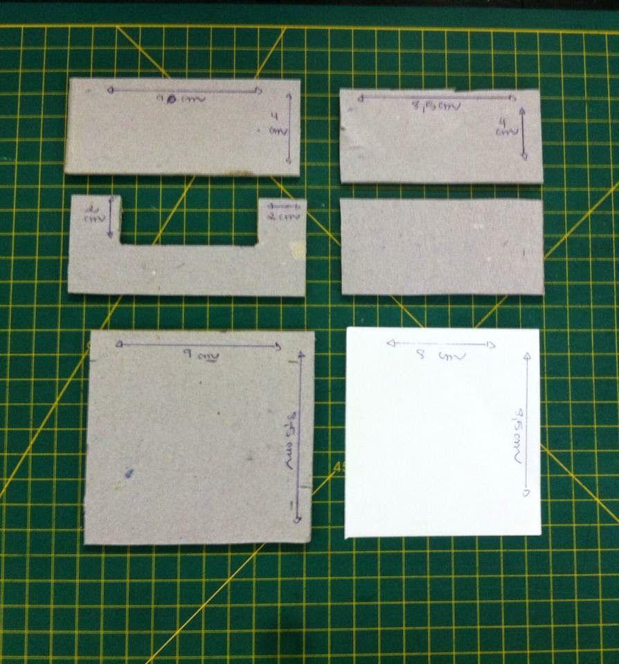 Gata Bacana: Como criar medidas de cartonagem, porta bloquinho de notas