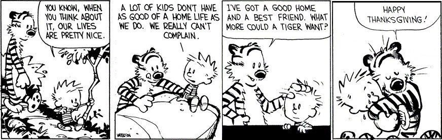 Happy Thanksgiving Calvin And Hobbes Work Quotes Happy Thanksgiving
