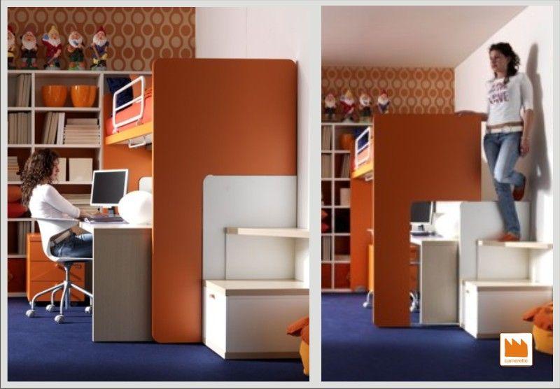 Soppalco scorrevole scrivania literas pinterest - Scrivania da letto ...
