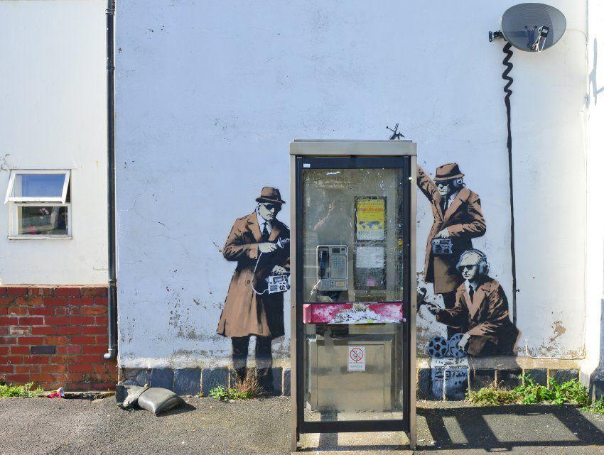 Neues Street-Art-Kunstwerk: Ist Banksy dem GCHQ ganz nahe ...