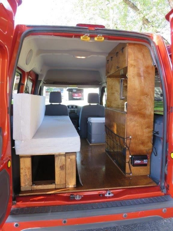 2002 2013 ford transit connect camper conversion kit do it yourself instant downloadable plans - Ford Transit Connect Interior Camper