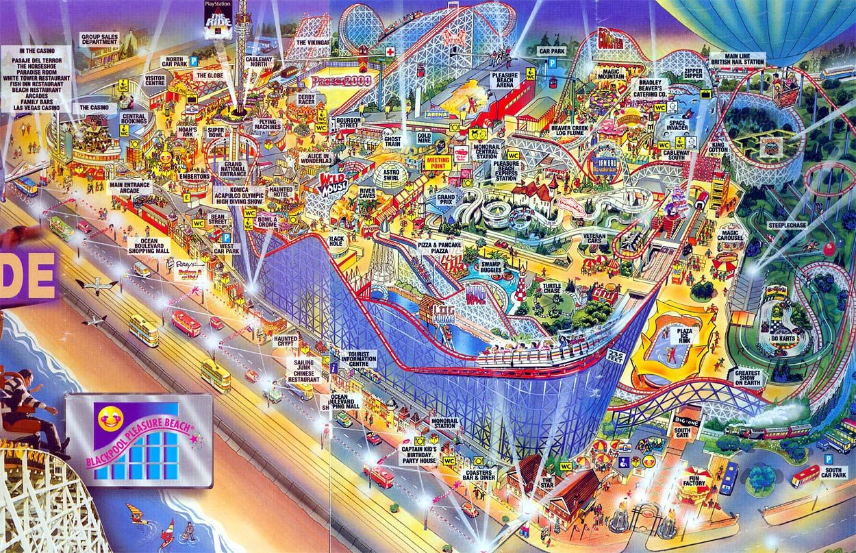 Blackpool Pleasure Beach Map Blackpool Pleasure Beach Map | Nostalga | Blackpool pleasure beach