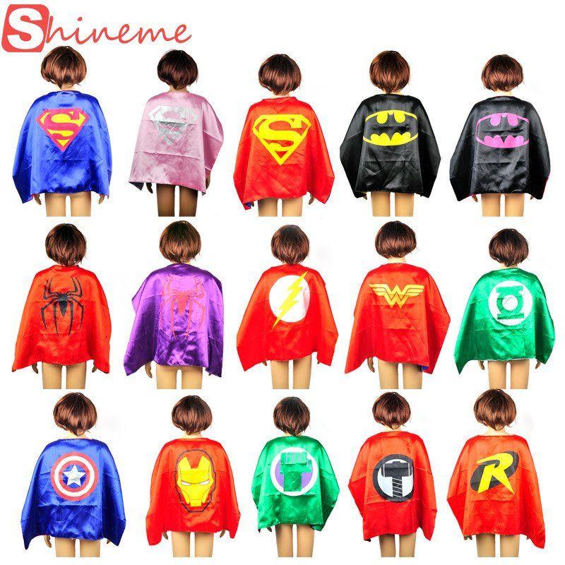 Childrens Fancy Dress Costume Superhero Cape Kids//Boys//Girls//Unisex Red