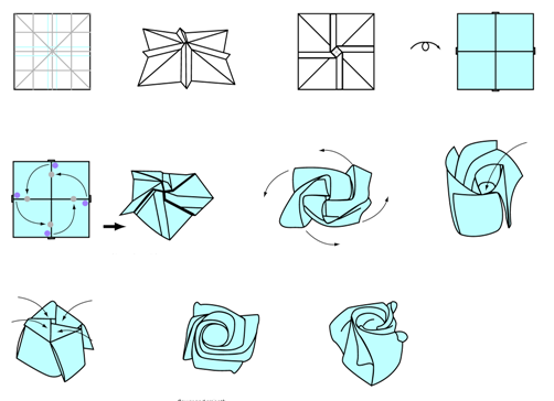 Origami easy rose diagram wiring diagram portal easy to understand origami rose instructions origami pinterest rh pinterest com steps to make a origami mightylinksfo