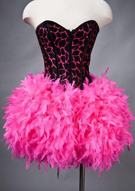 Tamaño personalizado caliente rosa y negro Animal print corsé con ...