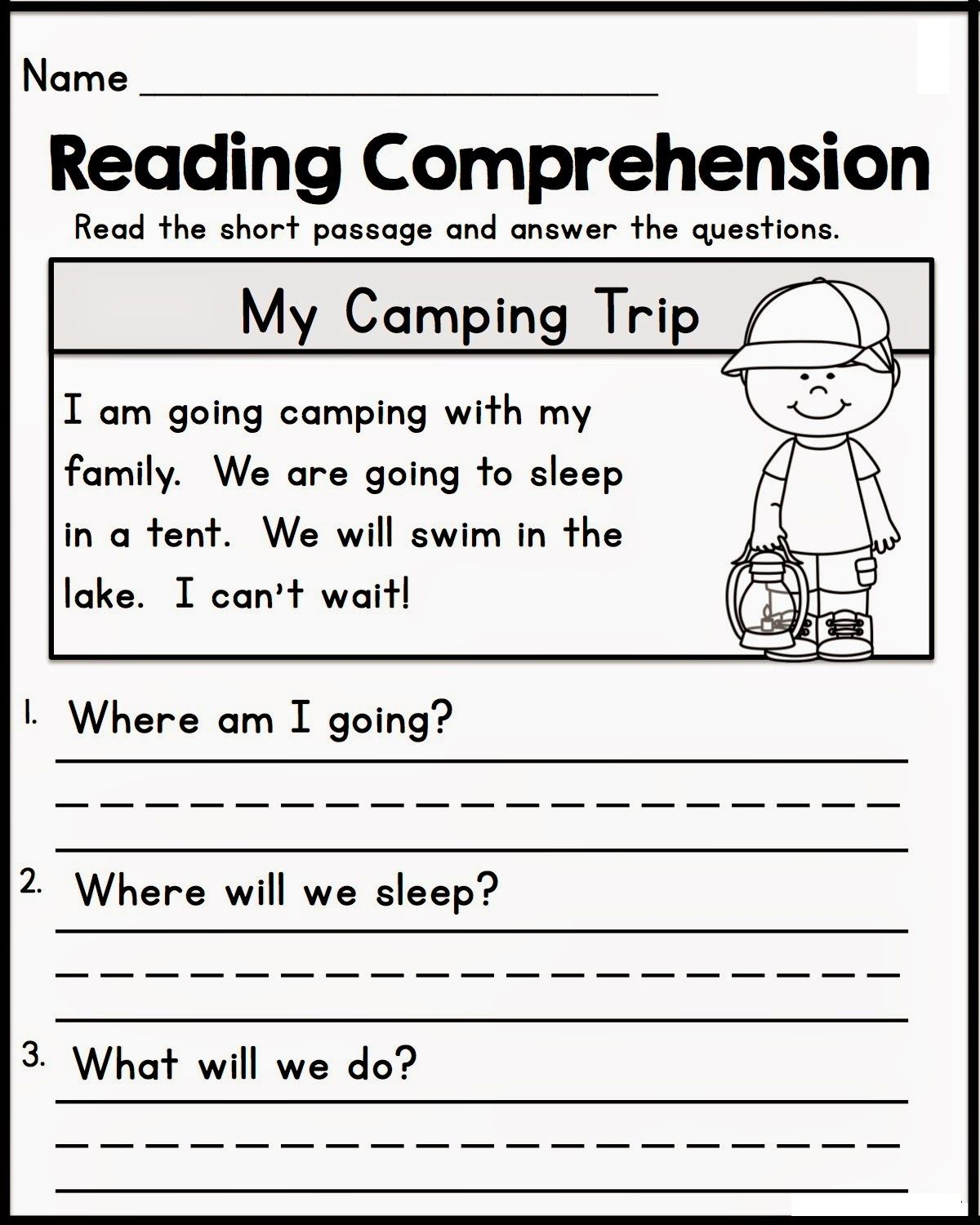 - Printable Learning Sheets For Kids Reading Comprehension