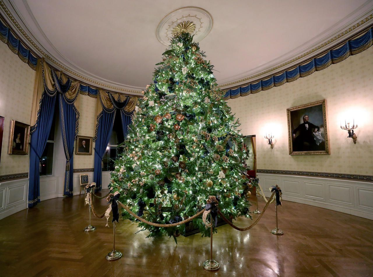 The Trumps Receive 2020 White House Christmas Tree White House Christmas decorations 2019 Melania Trump receives