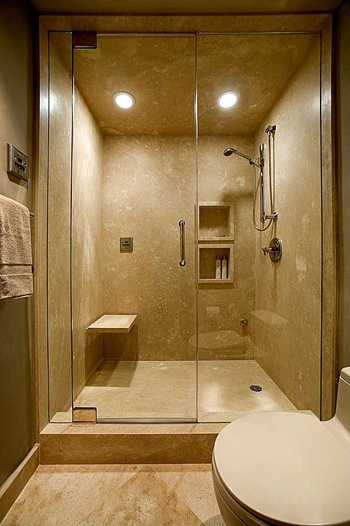 Zillow Rustic Bathrooms: Tan Slab Shower Stall. Modern 3/4 Bathroom